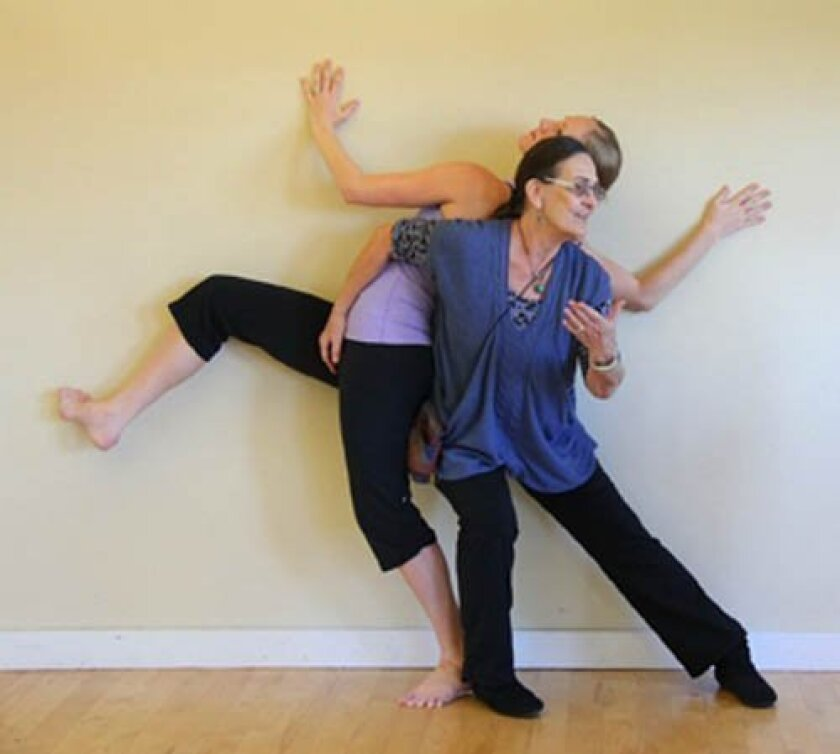 San Diego Dance Theater artistic director Jean Isaacs rehearsing with her assistant Blythe Barton in 2012.
