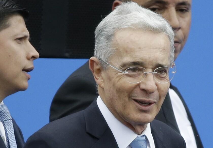 Former Colombian President Álvaro Uribe in 2018.