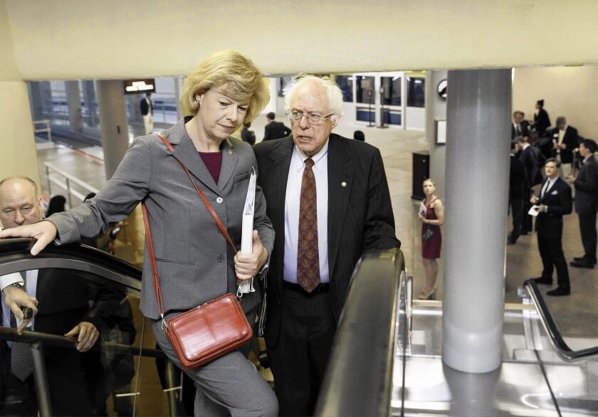 Sens. Bernie Sanders, Tammy Baldwin