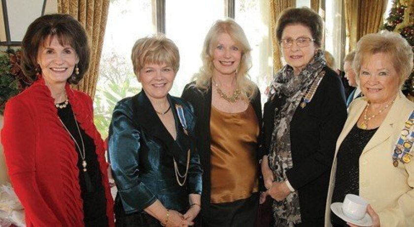 Carol Wootton, Pat Dibjak, Cathy Smith, Martha Gresham, Donna Pearson (Photo: Jon Clark)