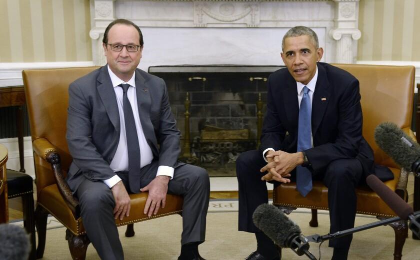 Francois Hollande, President Obama