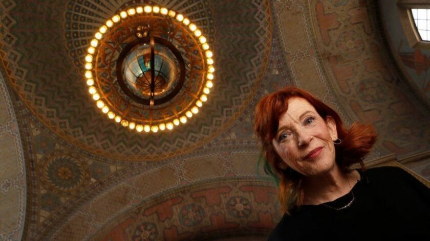 """Author Susan Orlean (""""The Library Book"""") in the Los Angeles Public Library."""