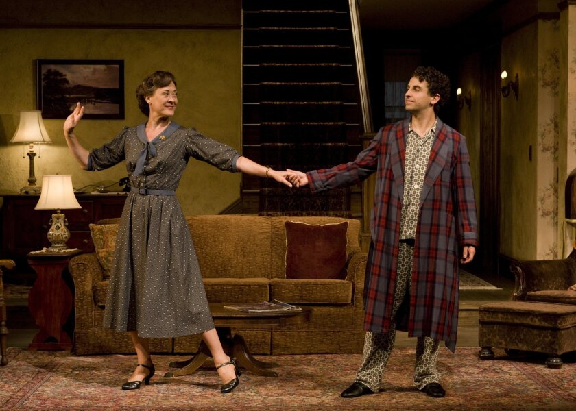 "Karen Ziemba and Brandon Uranowitz in ""Broadway Bound."""