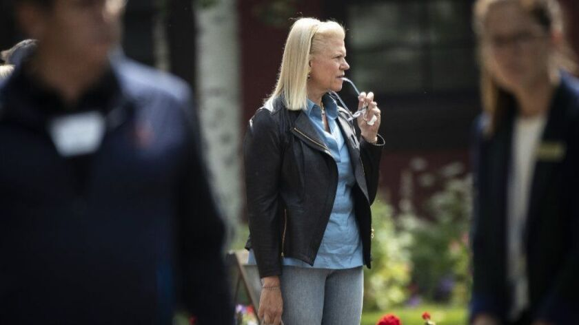 Ginni Rometty, chief executive of IBM, attends the annual Allen & Co. conference in Sun Valley, Idaho, this month.
