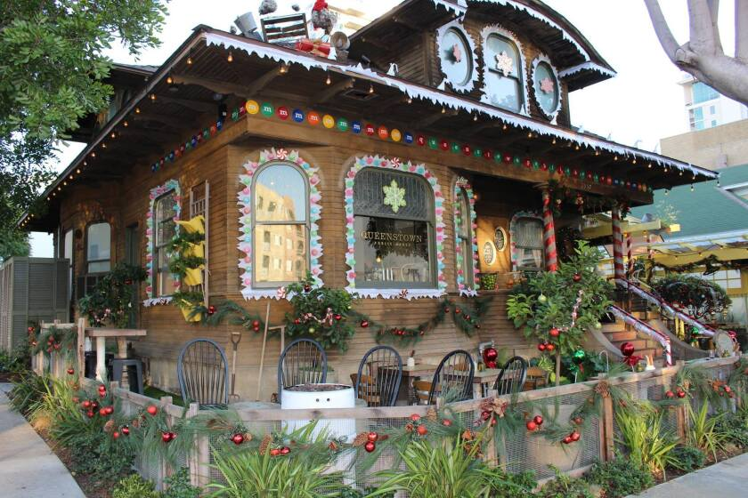 Queenstown Public House transforms into a gingerbread house this season. (Courtesy photo)