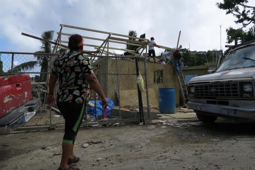 Fotografía de archivo de los daños causados por el paso del huracán María. EFE/Archivo