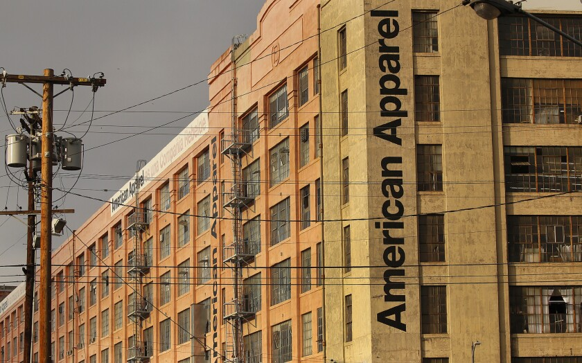American Apparel is selling off its assets following a bankruptcy filing in November.