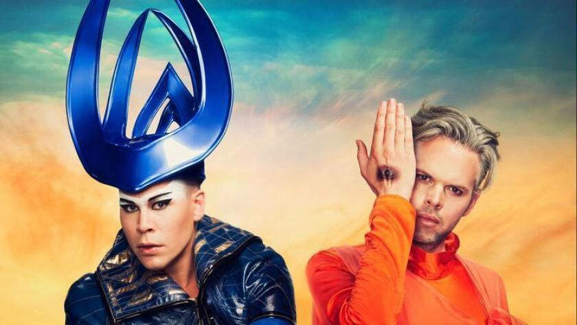 Empire of the Sun's Luke Steele (left) will perform at CRSSD Festival Saturday without longtime musical partner Nick Littlemore, who rarely tours.