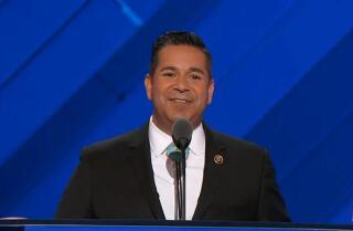Democratic Congressional Campaign Chairman Ben Ray Luján bashes Donald Trump at the Democratic National Convention