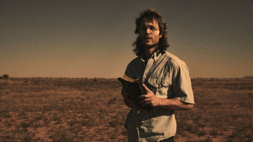 """Taylor Kitsch in a scene from """"Waco."""" Credit: Paramount Network"""