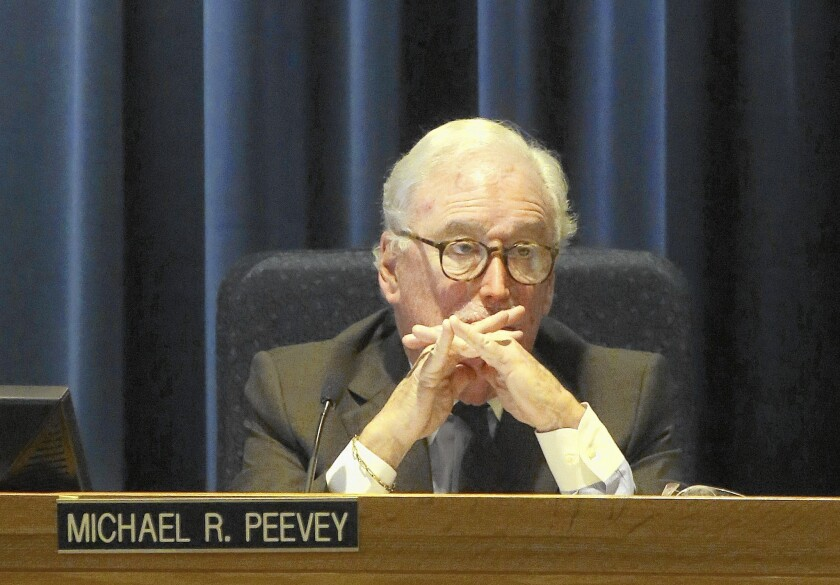 A handful of emails revealed that then-PUC President Michael Peevey, above in December, had a beef about the size of his monthly bill in 2011: It had more than doubled after a wireless meter was installed.