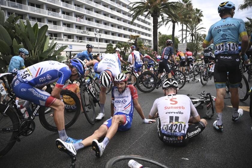 Already Missing Riders Tour De France Tackles Tough Stage 2 The San Diego Union Tribune