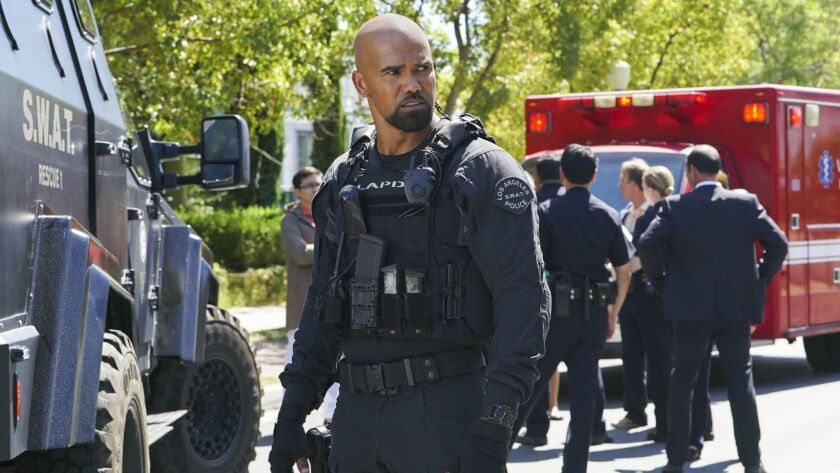 "CBS ordered second seasons of ""S.W.A.T"" and ""SEAL Team."" Above, Shemar Moore as Daniel ""Hondo"" Harrelson, a sergeant torn between his work and the city he grew up in."