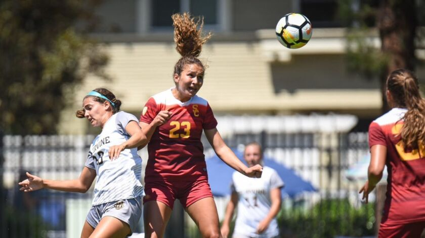 USC Women's Soccer squared off with UC Irvine in a preseason exhibition match on August 11th, 2017.