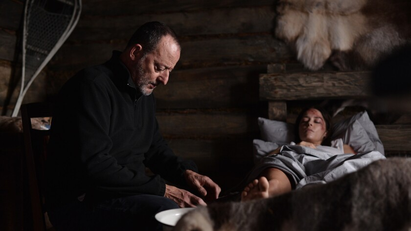 "(L-R)- Jean Reno and Sarah Lind in a scene from ""Cold Blood."" Credit: Ivashkina Olena/Screen Media"