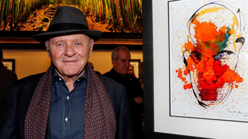 "Actor Anthony Hopkins' newest passion is painting. His works, which he describes as ""primitive,"" now hang in galleries at two Las Vegas hotels."