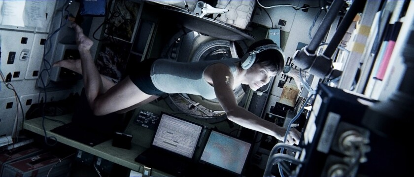 "Sandra Bullock as Dr. Ryan Stone in ""Gravity."""