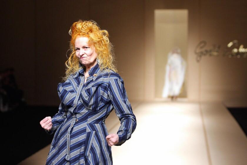 British designer Vivienne Westwood