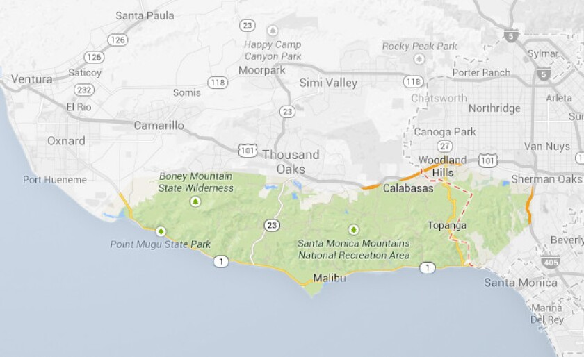 Map of new Malibu Coast AVA created by Dolin Malibu Estate Vineyards from coordinates given by the TTB (The Alcohol and Tobacco Tax and Trade Bureau)
