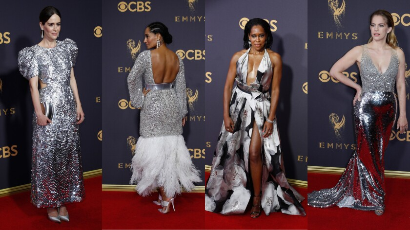 2017 Emmy Awards red carpet: A sea of silver, a splash of