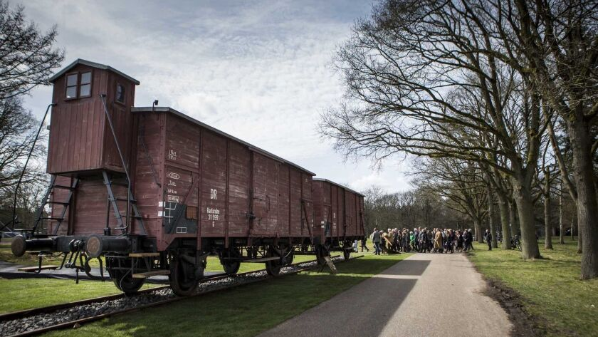 Dutch Railways to compensate Holocaust survivors, Hooghalen, Netherlands - 12 Apr 2015