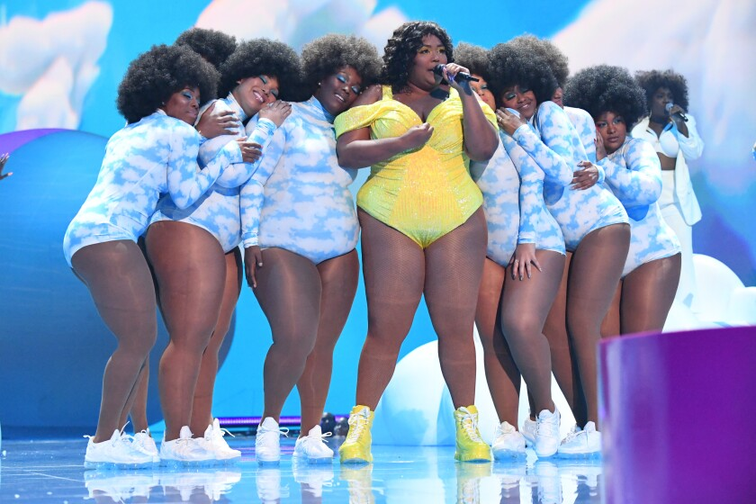 Lizzo and her Big Grrrls backup dancers.