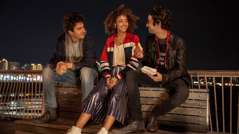"""(L-R) - Nat Wolff, Paulina Singer and Alex Wolff in a scene from """"Stella's Last Weekend."""" Credit: Pa"""