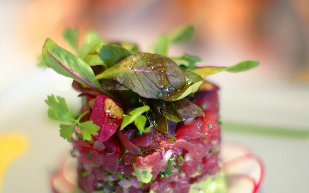 Big-eye tuna tartare