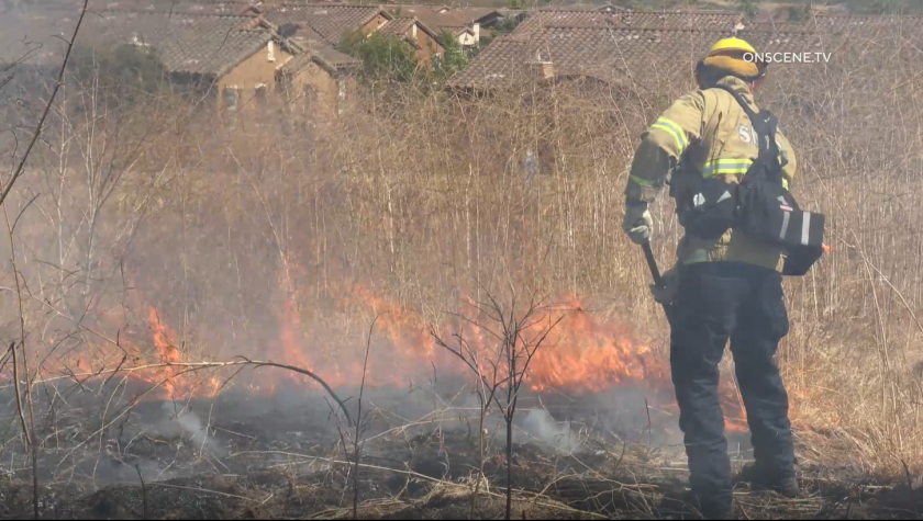 Firefighters battled a 7-acre vegetation fire in Carmel Valley on Sunday, June 27.