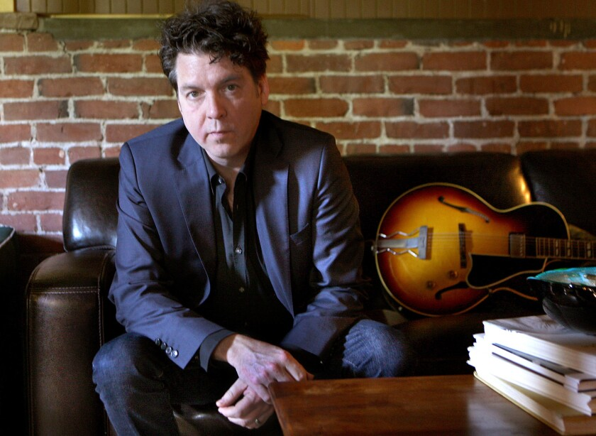 Musician-producer Joe Henry, photographed in 2009 at his home studio in South Pasadena, joined forces Saturday with singer-songwriter Sam Phillips at Largo at the Coronet.