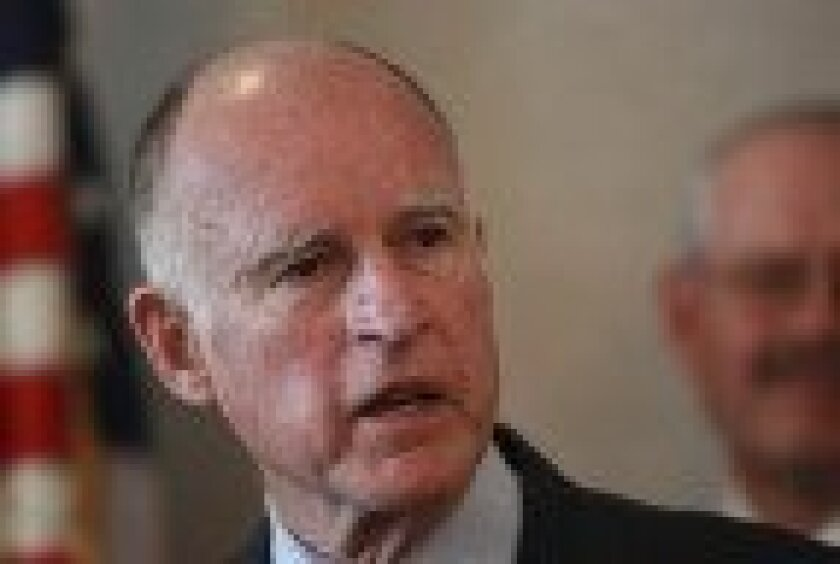 Governor Jerry Brown in San Diego in April.
