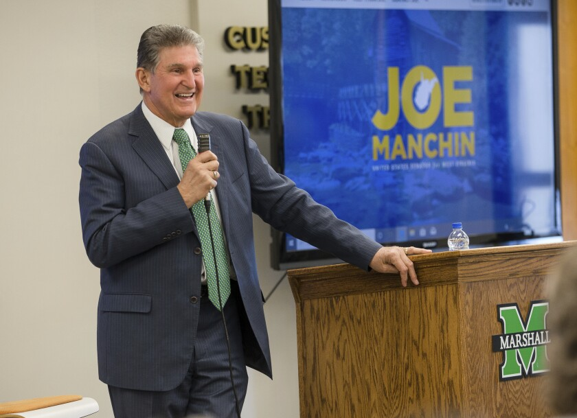 After Trump impeachment trial, Sen. Manchin comes home to warm welcome in West Virginia