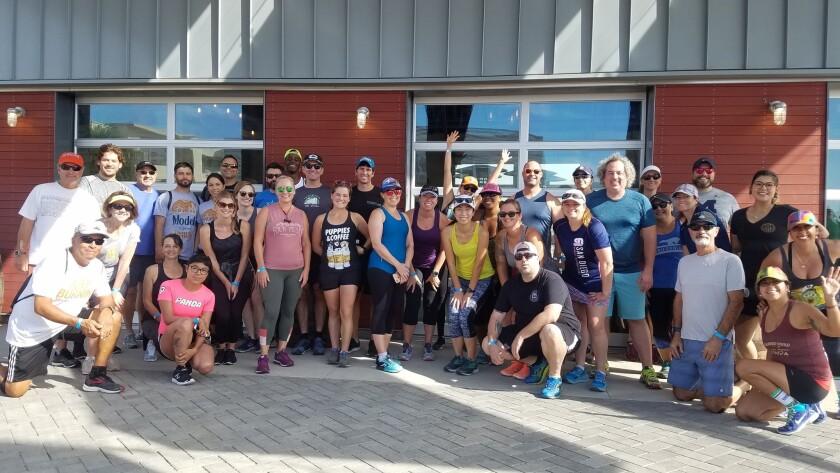 Iman Wilkerson partnered with Eppig Brewing for a Thursday night 5k run at the brewery's Point Loma location.