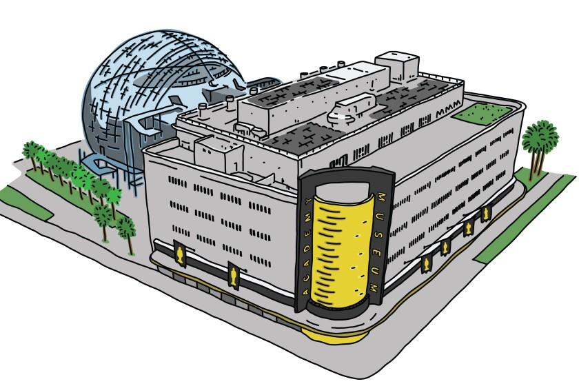 Illustration of the Academy Museum of Motion Pictures.