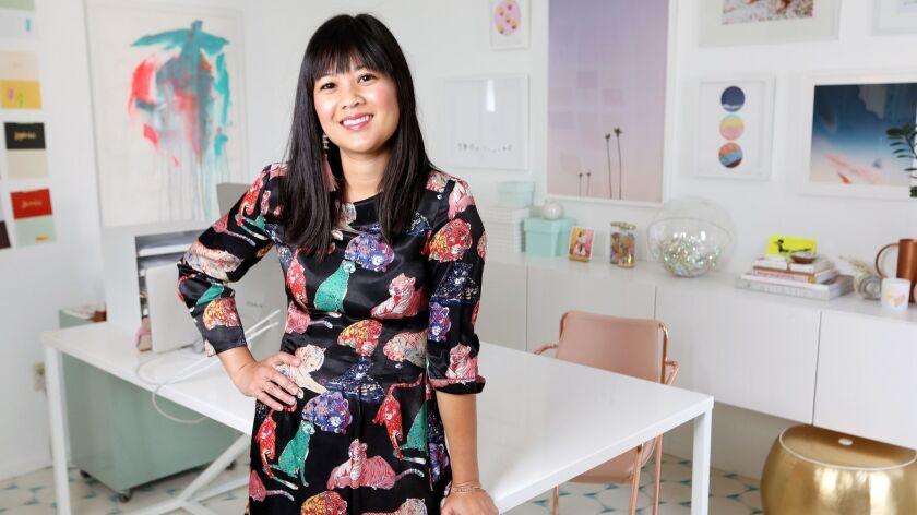 LOS ANGELES, CALIF. -- WEDNESDAY, JULY 11, 2018: Designer Joy Cho, founder of the whimsical and joy-