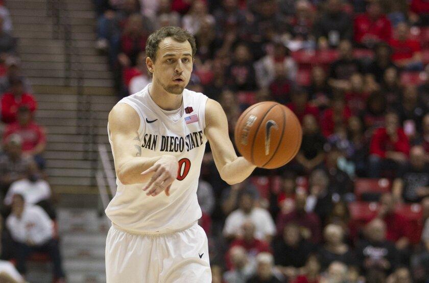 SDSU vs. New Mexico Mens Basketball at Viejas Arena. San Diego State Aztecs forward Matt Shrigley (40).