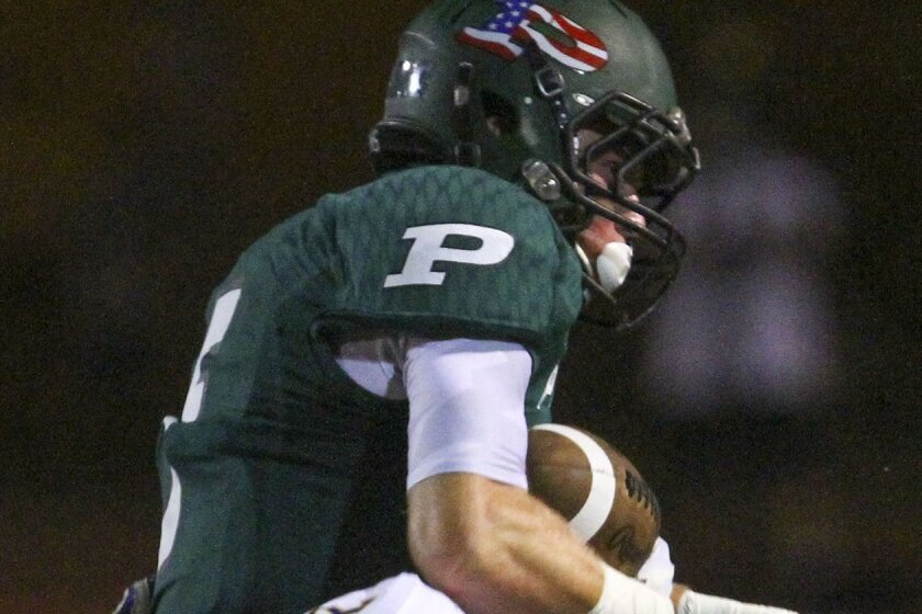 Poway's Jared Adelman is on the field for virtually every play of the game.