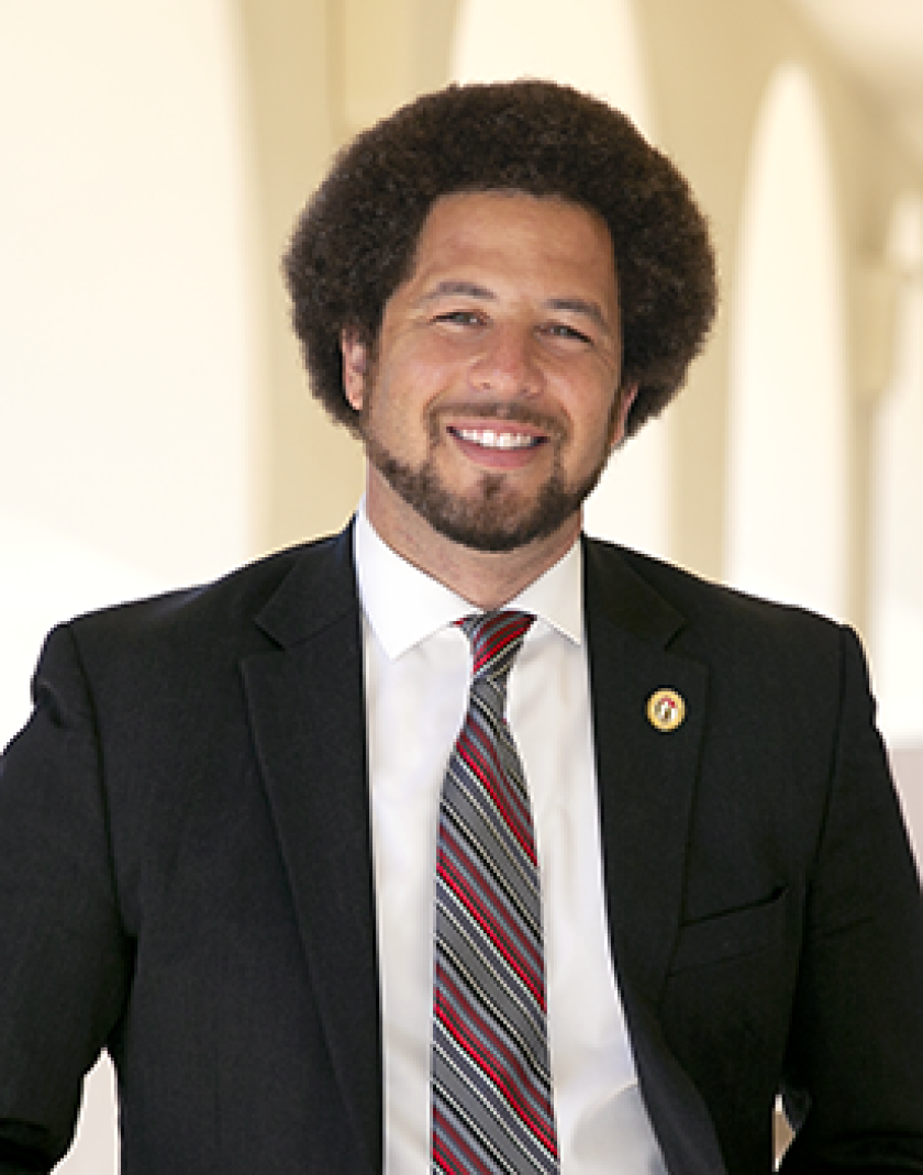 Luke Wood is a San Diego State education professor who co-authored a report on discipline disparity in schools.