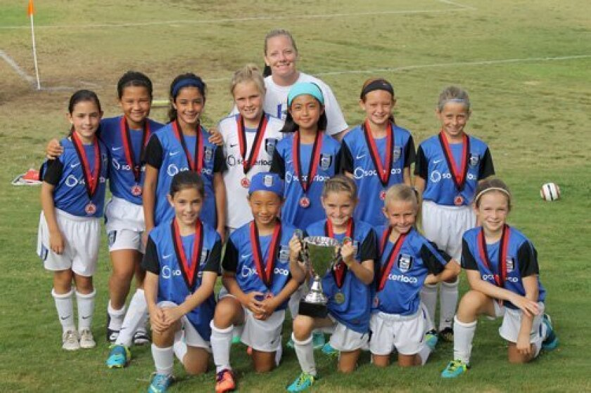 SD Surf SC Girls Academy II U10 team wins 2013 Notts Forest Cup
