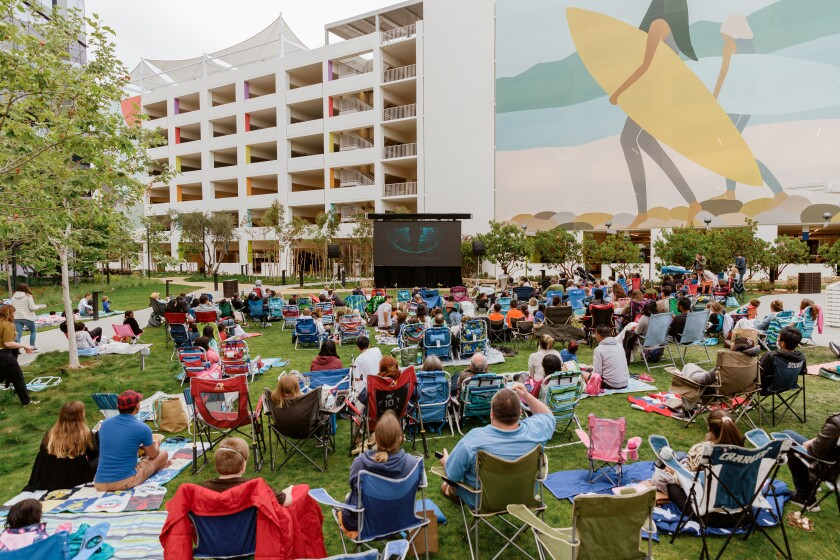 One Paseo's outdoor movie series continues this weekend.