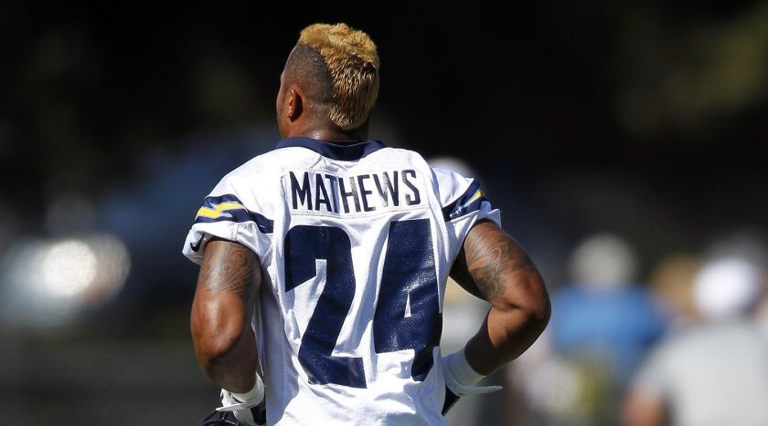 Chargers running back Ryan Mathews returned to practice Wednesday less than 48 hours after being in a two-vehicle collision.