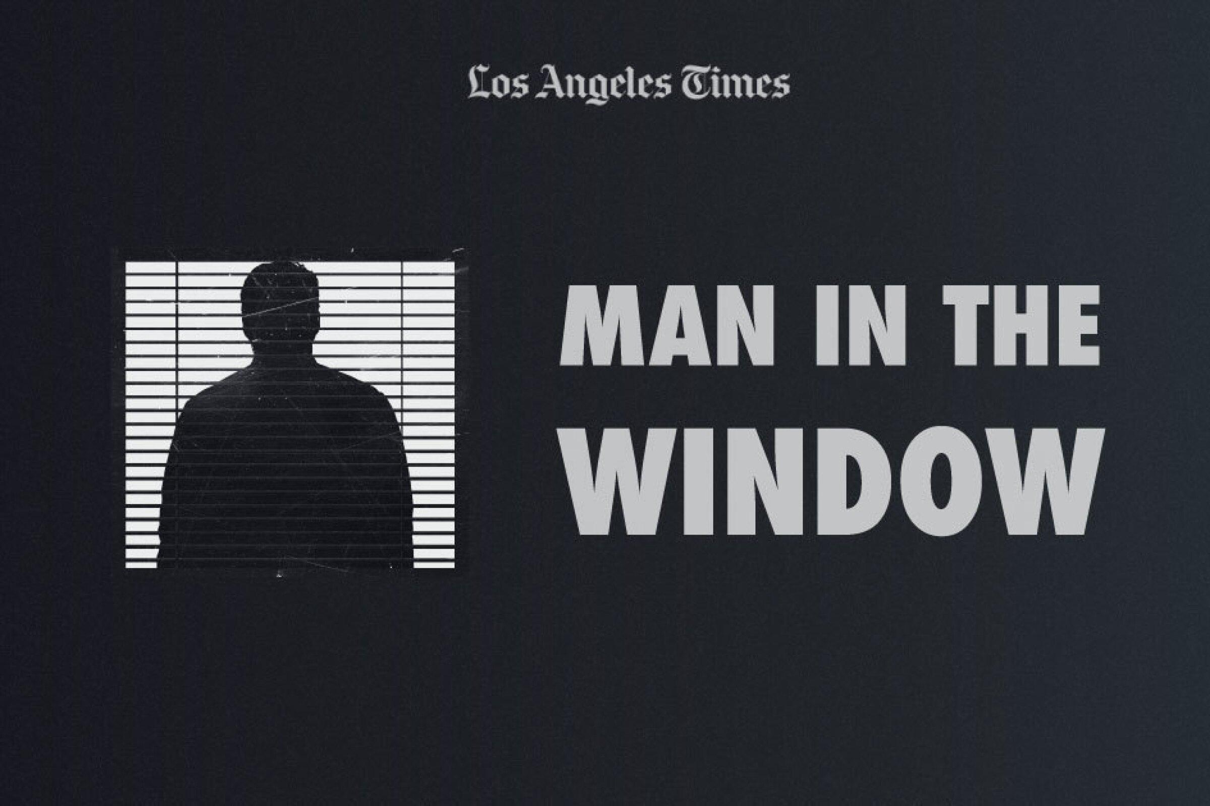 Man in the window illustration
