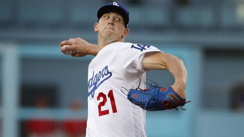 Dodgers starting pitcher Walker Buehler has posted a 2.21 ERA in 12 starts since the All-Star break, demonstrating better command with his 98-mph fastball.