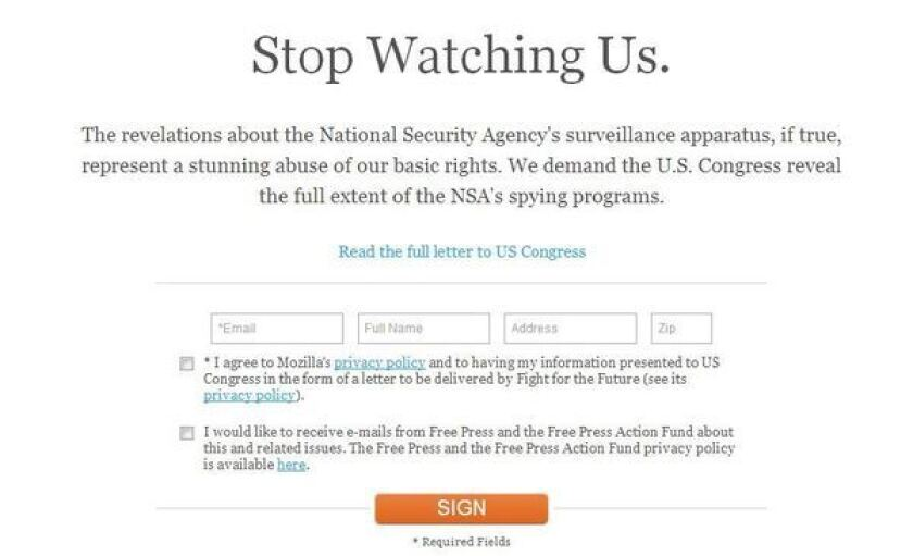 Firefox's parent company launches campaign against NSA