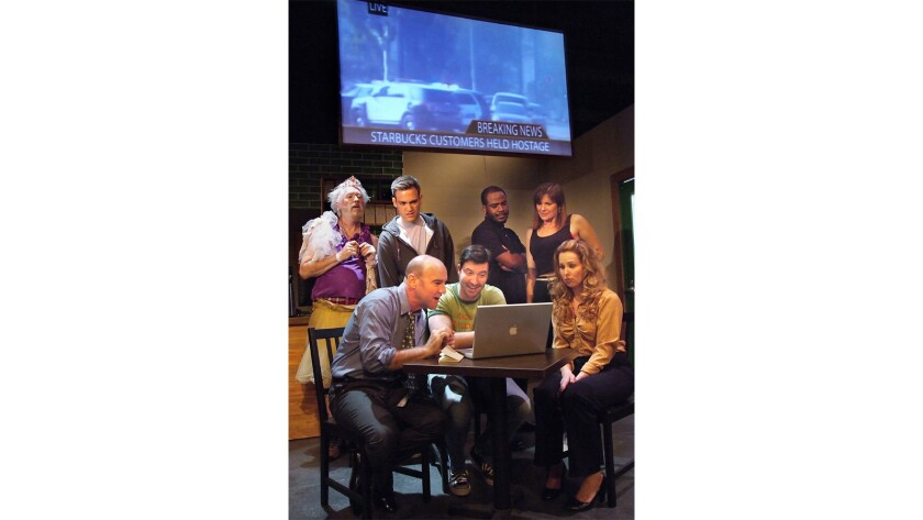"The cast of Peter Lefcourt's ""Café Society"" at the Odyssey Theatre"