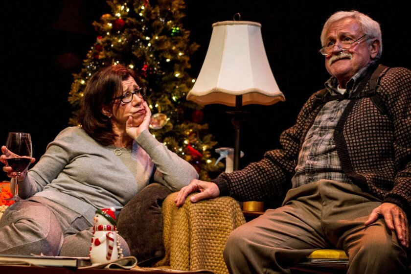 Gloria (Maggie Carney) and Uncle Bill (Navarre T. Perry) share ideas about unfortunate happenings.