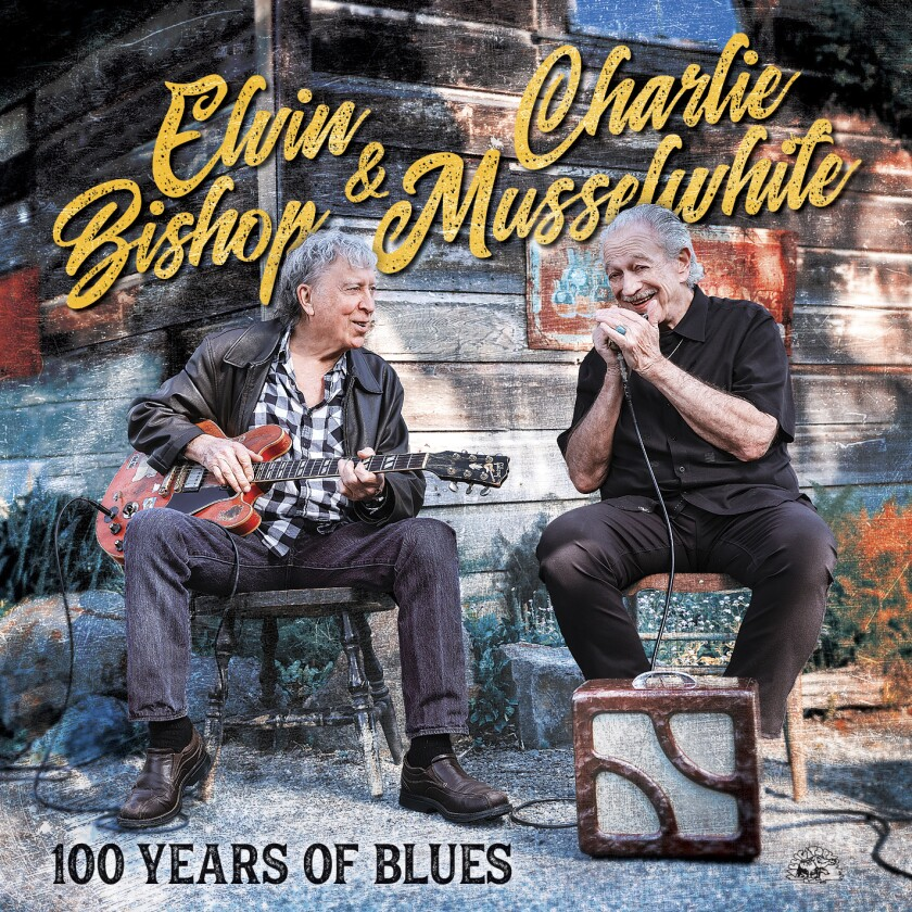 "This cover image released by Alligator Records shows ""100 Years of Blues"" by Elvin Bishop & Charlie Musselwhite. (Alligator Records via AP)"