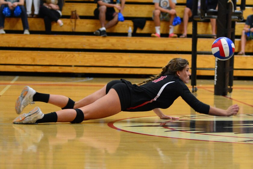 Whatever Hannah Martin lacks in experience on the Canyon Crest Academy volleyball court, she has more than made up for in raw athleticism, energy and enthusiasm.