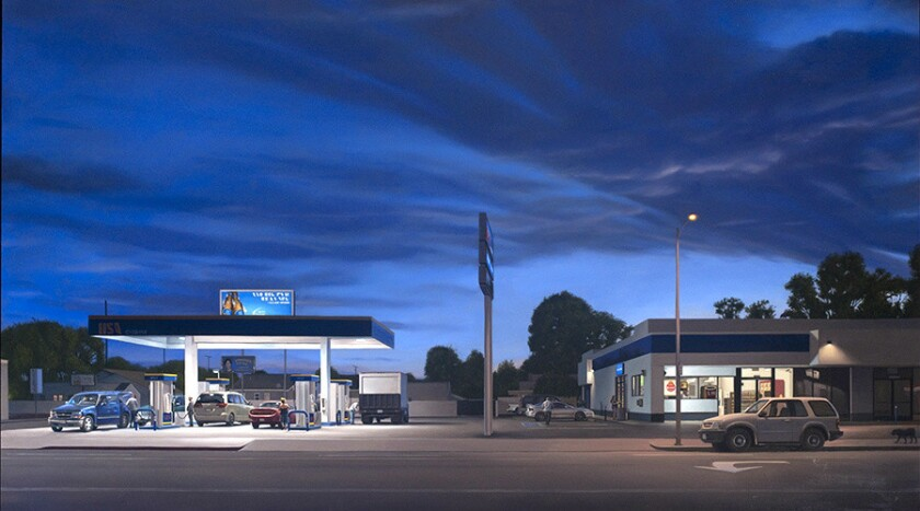 "Marc Trujillo, ""14114 Vanowen Blvd.,"" 2013, oil on polyester over aluminum."