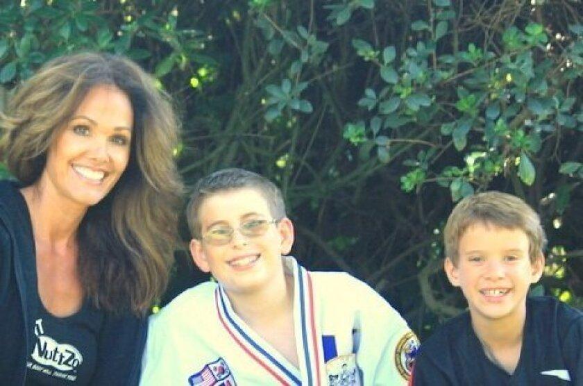 Danielle Dietz-LiVolsi with her children.
